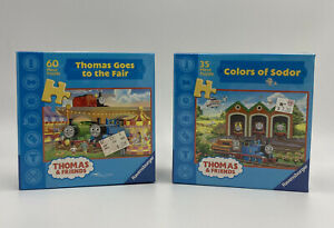 Thomas & Friends Lot Of 2 Ravensburger Puzzles 60 & 35 PiecesNew Sealed
