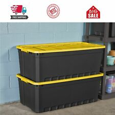 Plastic Storage Containers Large Yellow Lily 50 Gallon Stacking Bin Box Tote, 3