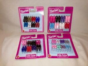 Barbie Little Extras shoes, 4 packs, New