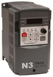 TECO DRIVE N3-401-C VFD AC FREQUENCY DRIVE 1HP/2.3A 3 PHASE 460V IN/ OUT