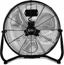 Simple Deluxe 12'' Heavy Duty Metal Industrial Floor Fans 3-Speed Quiet for Home