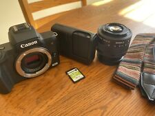Canon EOS M50 Mirrorless Camera w/ EF-M 15-45mm Lens, 32g card, Battery, Strap