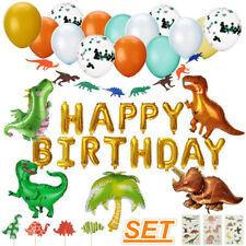 Dinosaur Happy Birthday Balloons Bunting Banner Set Kids Room Party  UK! D1