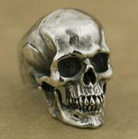 Heavy Mens Skull Stainless Steel Ring Gothic Vintage Fashion Jewelry Size 7-13