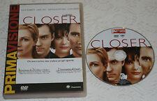 Closer - Julia Roberts; Clive Owen; Jude Law (DVD; 2004) *EDICOLA*/*OTTIMO*.