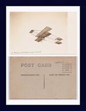 FRANCE AVIATION REAL PHOTO LOUIS PAULHAN ALTITUDE RECORD AT LOS ANGELES 1910