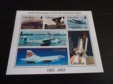 GIBRALTAR 2003 SG MS1051 CENT OF POWERED FLIGHT MNH