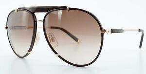 DSQUARED2 Sonnenbrille DQ 0075 48F 61-11 140 Gold Braun Leder Premium Pilot 2011