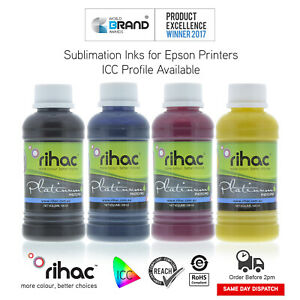 Dye Sublimation Ink for Epson or Brother CISS or Refillable Heat Transfer 100ml
