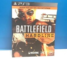 BATTLEFIELD HARDLINE - 3 GOLD BATTLE PACKS (PS3) DLC ONLY #81