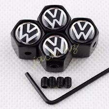 Antitheft Car Wheel Tire Tyre Valve Stem Air Cap Cover FOR VW Volkswagen 4PCS
