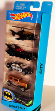 Hot Wheels BATMAN 5 Pack New, CITY  1:64 SCALE wwvintage5star