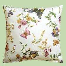 Kissenhülle Kissen in 2 Grö�Ÿen Schmetterlinge Blumen Gräser pflegeleicht