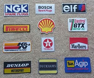 Set of 12 Motor Racing / Motor Sport Patches : Classic Cars Goodwood Festival c