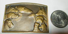 ANTIQUE FRENCH ART DECO J. RONSON BRONZE TOY DOG BUST MEDAL COIN EXONUMIA PLAQUE