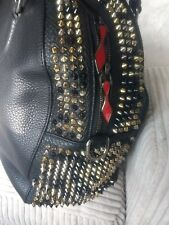 Authentic Christian Louboutin Panettone Bag Black Gold Silver Studs Handbag