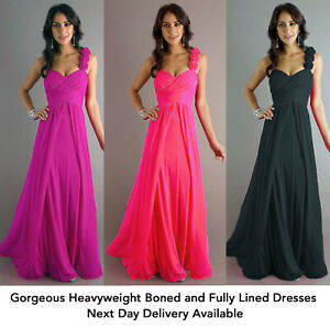 Long Cocktail Dress Bridesmaid Dress - All Sizes - Choose Colour