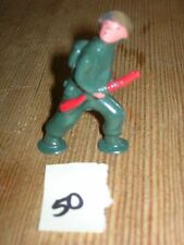 ca 1960'S BARCLAY DIMESTORE LEAD TOY SOLDIER ADVANCING WITH RIFLE #50