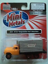 Classic Metal Works #30416,1960 Ford Refrigerated Box Truck - Armour Meats  HO