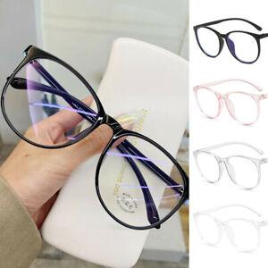 Computer Glasses Frame Women Men Anti Blue Light Round Eyewear Blocking Glasses