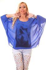 Hüftlange Damenblusen, - tops & -shirts im Tuniken-Stil mit Flügelärmeln