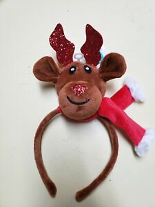 Claire's Plush Brown Reindeer Headband One Size