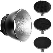 "Neewer 6.6"" Honeycomb Grid Set(10 30 50 Degree) with 7""Reflector Diffuser"