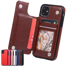 Shockproof Leather Flip Wallet Stand Case For iPhone 12 11 Pro Max Xr X 8 7 6 5s