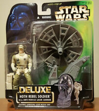 Star Wars HOTH REBEL SOLDIER - w-Laser Cannon 1996 MOC FREE Shipping!