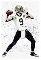 Drew Brees - Saints - poster print