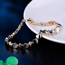18k Gold Filled Dignified Vintage Love Wedding Chain Bracelet For Women Jewelry