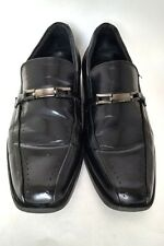Stacy Adams Mens Black Leather Cade Slip On Dress Casual Comfortable Loafer Shoe