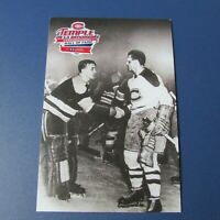 MAURICE RICHARD  Canadiens postcard Loto Quebec & Sugar JIM HENRY  Boston Bruins