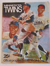 1970 MINNESOTA TWINS OFFICIAL PROGRAM - FAIR COND.-  TUB Z