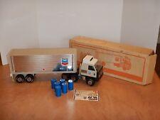 1970s TONKA CHEVRON PACKAGE DELIVERY TRUCK - PRESSED STEEL, ORIGINAL BOX,  #2165