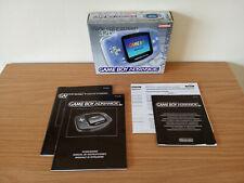 Game Boy Advance Caja Original Ed. Española Azul Transparente con manuales GBA