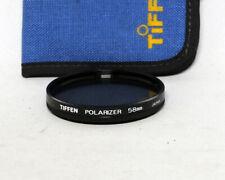 Tiffen 58mm 58 mm Linear Polarizer Filter Used 35mm SLR Film DSLR Digital
