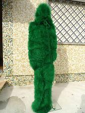 Green Hand Knitted Long hair Mohair Tube Hooded Fetish by Lanaknittings