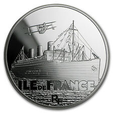 2016 Silver €10 Great French Ships Proof (The Ile de France) - SKU #97840