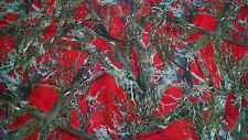 "MC2 RED CAMO COTTON POLY WATER REPELLENT TWILL FABRIC 60""W BTY CAMOUFLAGE DWR"
