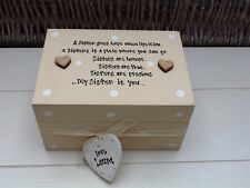 Shabby Personalised Chic Special Best Sister / Cousin Gift Trinket Jewellery Box