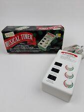 Vintage Mr. Christmas Musical Timer Variable Timer 3 Outlet 1993 Holidays Lights
