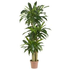 Nearly Natural 6584 Corn Stalk Dracaena Silk Real Touch Permanent Plant Green