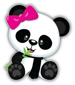 Panda Girl Cartoon Sticker Bumper Decal - ''SIZES''