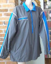 Vintage K-Swiss Apparel Wind Breaker Track Athletic Jacket Blue & Gray Men's M