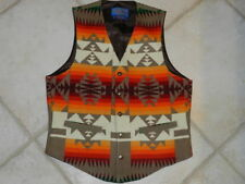 Pendleton Men Small Vest High Grade Western Wear Orange Navajo Aztec