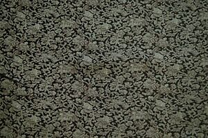 Faux Silk Brocade (Floral leaf) Jacquard Damask Kimono Fabric Material BL16