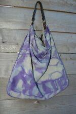 Lucky Brand suede Leather hobo Handbag Purse Beige grey blue gray navy purple