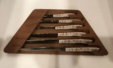 Vintage 6 Piece Household's Surgical Stainless Steel Wood Cutlery Set Japan