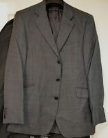 AUSTIN REED ~BESPOKE~ FAB CLASSIC ELEGANT GREY CHECK BUSINESS SUIT UK 40R EU 50R